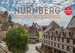 NÜRNBERG Historisches Stadtherz (Wandkalender 2019 DIN A3 quer) von Viola,  Melanie