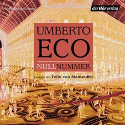 Nullnummer von Eco,  Umberto, Kroeber,  Burkhart, Manteuffel,  Felix von