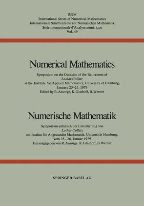 Numerical Mathematics / Numerische Mathematik von ANSORGE, GLASHOFF, Werner