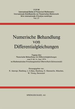 Numerische Behandlung von Differentialgleichungen von Ansorge,  R., Collatz,  L., Hämmerlin,  G., Törnig,  W.