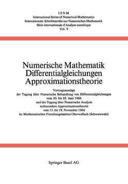 Numerische Mathematik Differentialgleichungen Approximationstheorie von Collatz, Meinradus, Unger
