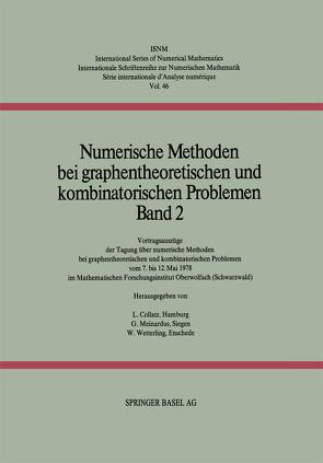 Numerische Methoden bei graphentheoretischen und kombinatorischen Problemen von Collatz, MEINARDUS, WETTERLING