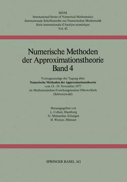 Numerische Methoden der Approximationstheorie von Collatz, MEINARDUS, Werner