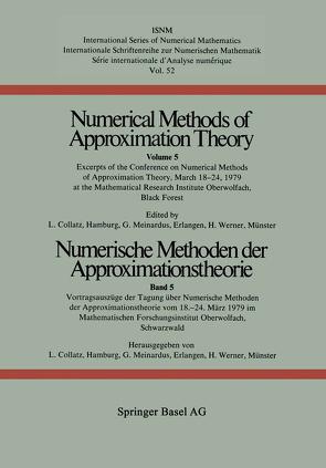 Numerische Methoden der Approximationstheorie / Numerical Methods of Approximation Theory von Collatz, MEINARDUS, Werner