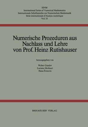 Numerische Prozeduren von Rutishauser,  H.