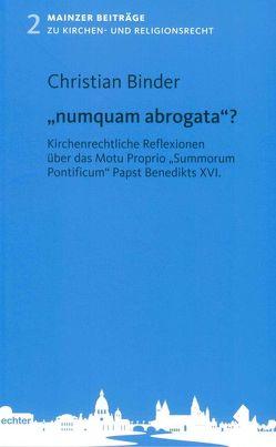 """""""numquam abrogata""""? von Binder,  Christian"""