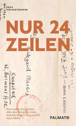 Nur 24 Zeilen von von Wietersheim,  Erika