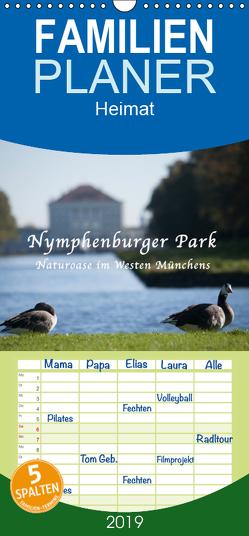 Nymphenburger Park – Familienplaner hoch (Wandkalender 2019 , 21 cm x 45 cm, hoch) von Haas,  Bettina