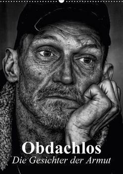 Obdachlos. Die Gesichter der Armut (Wandkalender 2018 DIN A2 hoch) von Stanzer,  Elisabeth