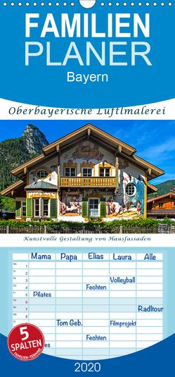 Oberbayerische Lüftlmalerei – Familienplaner hoch (Wandkalender 2020 , 21 cm x 45 cm, hoch) von Zillich,  Bernd