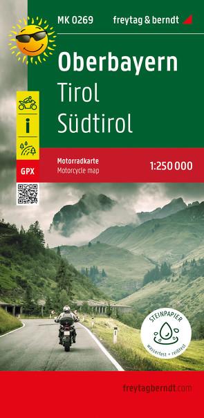 Oberbayern – Tirol – Südtirol, Motorradkarte 1:250.000, freytag & berndt