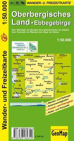 Oberbergisches Land, Ebbegebirge Wander- und Freizeitkarte