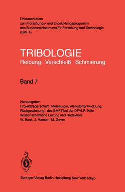 Oberflächenbehandlung · Bearbeitungsverfahren von Bunk,  W., Geyer,  M., Hansen,  J.