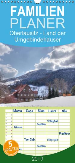 Oberlausitz – Land der Umgebindehäuser – Familienplaner hoch (Wandkalender 2019 , 21 cm x 45 cm, hoch) von Großpietsch,  Frank