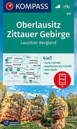 Oberlausitz, Zittauer Gebirge, Lausitzer Bergland von KOMPASS-Karten GmbH