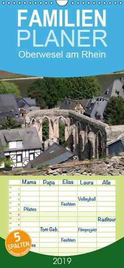 Oberwesel am Rhein – Familienplaner hoch (Wandkalender 2019 , 21 cm x 45 cm, hoch) von Berg,  Martina
