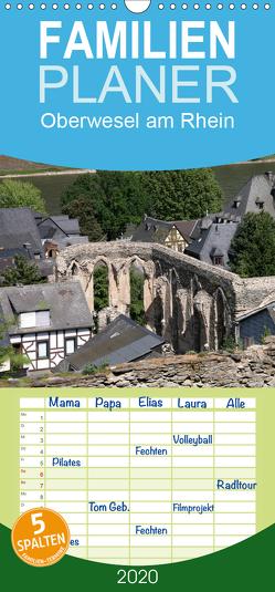 Oberwesel am Rhein – Familienplaner hoch (Wandkalender 2020 , 21 cm x 45 cm, hoch) von Berg,  Martina