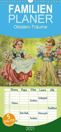 Oblaten-Träume – Familienplaner hoch (Wandkalender 2021 , 21 cm x 45 cm, hoch) von MaBu