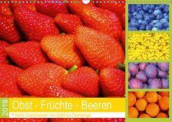 Obst Früchte Beeren 2019. Frische Impressionen von Apfel bis Zwetschge (Wandkalender 2019 DIN A3 quer) von Lehmann (Hrsg.),  Steffani