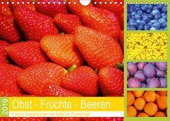 Obst Früchte Beeren 2019. Frische Impressionen von Apfel bis Zwetschge (Wandkalender 2019 DIN A4 quer) von Lehmann (Hrsg.),  Steffani