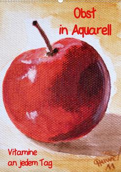 Obst in Aquarell, Vitamine an jedem Tag (Wandkalender 2021 DIN A2 hoch) von Huwer (Gute-Laune-Bilder-Huwer),  Christine