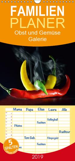 Obst und Gemüse Galerie – Familienplaner hoch (Wandkalender 2019 , 21 cm x 45 cm, hoch) von Laue,  Ingo