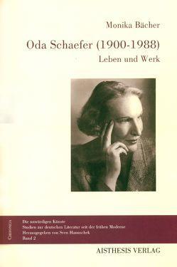 Oda Schaefer (1900-1988) von Bächer,  Monika