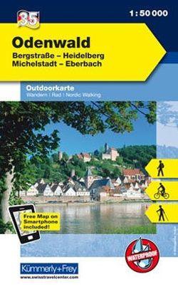 Odenwald Nr. 35 Outdoorkarte Deutschland 1:50 000