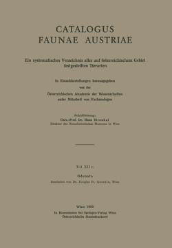 Odonata von Quentin,  D.S.