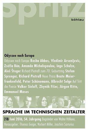 Odyssee nach Europa von Geiger,  Thomas, Miller,  Norbert, Sartorius,  Joachim