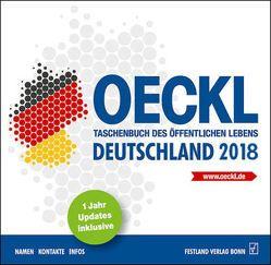 OECKL. Taschenbuch des Öffentlichen Lebens – Deutschland 2018 – CD-ROM von Kuss,  Brigitte, Oeckl,  Albert