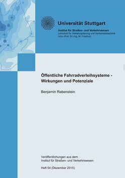 Öffentliche Fahrradverleihsysteme – Wirkungen und Potenziale von Rabenstein,  Benjamin