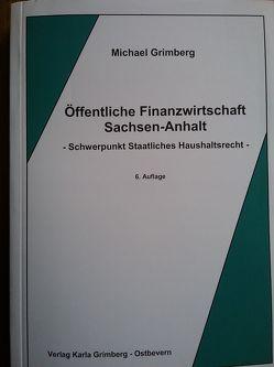 Öffentliche Finanzwirtschaft Sachsen-Anhalt von Grimberg,  Michael