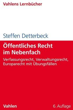 Öffentliches Recht im Nebenfach von Detterbeck,  Steffen