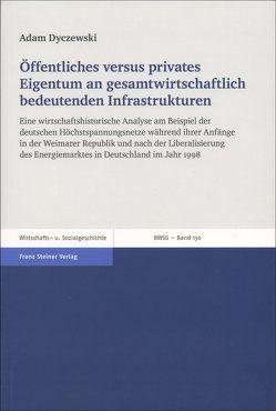Öffentliches versus privates Eigentum an gesamtwirtschaftlich bedeutenden Infrastrukturen von Dyczewski,  Adam