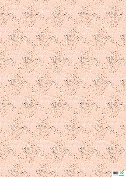 Öko-Geschenkpapier 5er Set: Weihnachten – Punkte (rosa, weiß, gold)