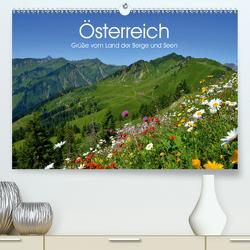 Österreich. Grüße vom Land der Berge und Seen (Premium, hochwertiger DIN A2 Wandkalender 2021, Kunstdruck in Hochglanz) von Stanzer,  Elisabeth