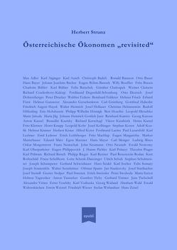 """Österreichische Ökonomen """"revisited"""" von Strunz,  Prof. Dr.,  Herbert"""