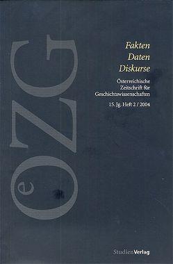 Österreichische Zeitschrift für Geschichtswissenschaften 2/04 von Sieder,  Reinhard