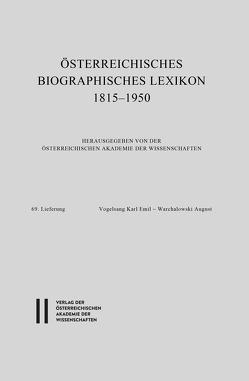 Österreichisches Biographisches Lexikon 1815-1950 / Österreichisches Biographisches Lexikon 1815-1950 , 69. Lieferung