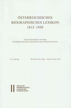 Österreichisches Biographisches Lexikon 1815-1950 / Österreichisches Biographisches Lexikon 1815-1950 , 70. Lieferung