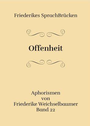 Offenheit von Weichselbaumer,  Friederike