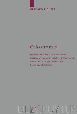 Oikonomia von Richter,  Gerhard