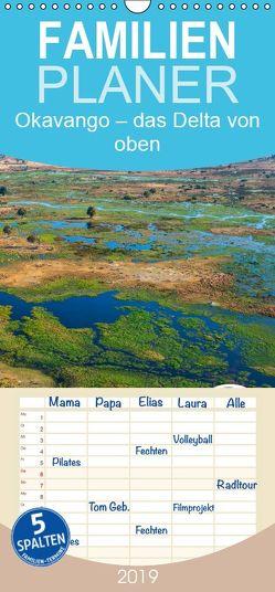 Okavango – Das Delta von oben – Familienplaner hoch (Wandkalender 2019 , 21 cm x 45 cm, hoch) von Bruhn,  Olaf
