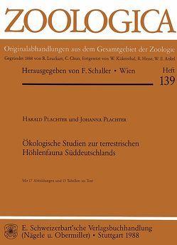 Ökologische Studien zur terrestrischen Höhlenfauna Süddeutschlands von Plachter,  Harald, Plachter,  Johanna