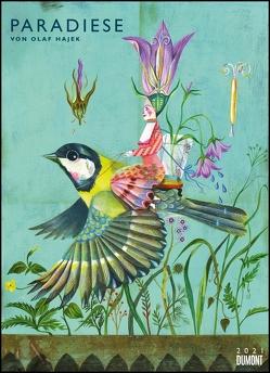 Olaf Hajek: Paradiese 2021 – DUMONT Kunst-Kalender – Poster-Format 49,5 x 68,5 cm von Hajek,  Olaf