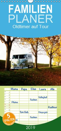 Oldtimer auf Tour – Familienplaner hoch (Wandkalender 2019 , 21 cm x 45 cm, hoch) von Adams foto-you.de,  Heribert