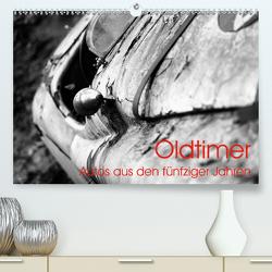 Oldtimer – Autos aus den fünfziger Jahren (Premium, hochwertiger DIN A2 Wandkalender 2021, Kunstdruck in Hochglanz) von Eckgold,  Frank