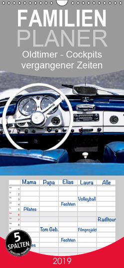 Oldtimer – Cockpits vergangener Zeiten – Familienplaner hoch (Wandkalender 2019 , 21 cm x 45 cm, hoch) von Meyer,  Dieter