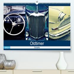 Oldtimer Details 2021 (Premium, hochwertiger DIN A2 Wandkalender 2021, Kunstdruck in Hochglanz) von Hebgen,  Peter